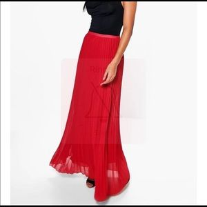 Red Maxi skirt with tags